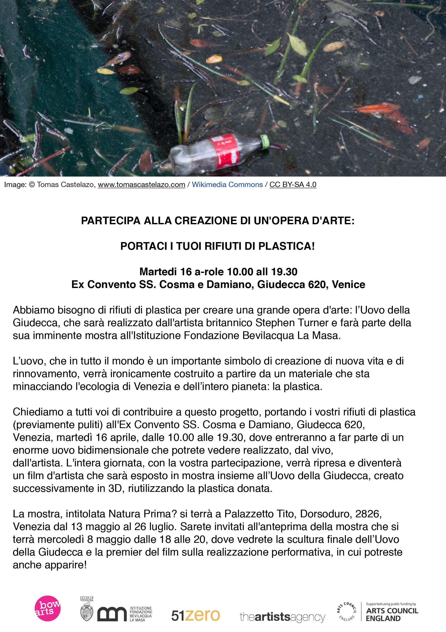 plastic collection flyer A5 Italian2